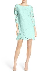 Women's Felicity And Coco Floral Lace Shift Dress Light Turquoise
