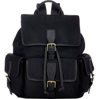 Stroble New York Flap Front Backpack Black