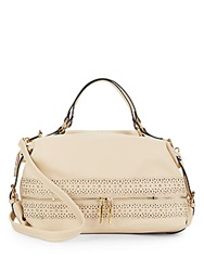 Catherine Malandrino Savannah Faux Leather Zip Satchel Tan