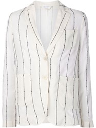 Brunello Cucinelli Striped Blazer White