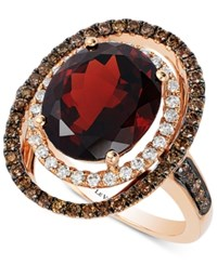 Le Vian Chocolatier Raspberry Rhodolite Garnet 5 3 8 Ct. T.W. And Diamond 3 4 Ct. T.W. Ring In 14K Rose Gold Red