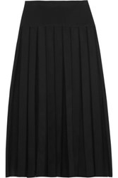 Dion Lee Paneled Georgette And Scuba Jersey Midi Skirt Black