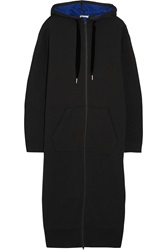 Alexander Wang Hooded Cotton Blend Fleece Sweatshirt