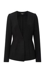 Paule Ka Techno Stretch Collarless Blazer Black