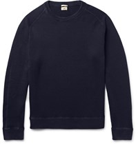 Massimo Alba Watercolour Dyed Cashmere Sweater Blue