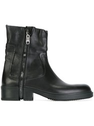 Diesel Zip Up Ankle Boots Black