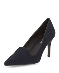 Charles David Luisian Suede High Heel Pump Navy