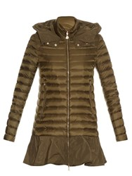 Moncler Daurade Quilted Down Coat Khaki