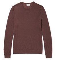 Acne Studios Clissold Merino Wool Sweater Burgundy