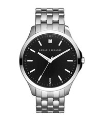 Armani Exchange Diamond And Stainless Steel Bracelet Watch Silver