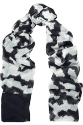 Issa Aimiee Printed Modal Scarf Black