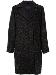Steffen Schraut Animal Print Coat Black