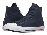 Converse Chuck Taylor All Star Shield Canvas Hi Obsidian White Signal Red Lace Up Casual Shoes Blue