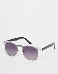 Asos Clubmaster With Clear Front Frame White