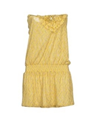 Violet Short Dresses Yellow