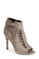 Trouve 'Hallie' Leather Twisted Cutout Bootie Metallic