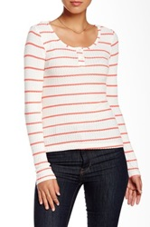 Tart Norden Striped Long Sleeve Tee Red