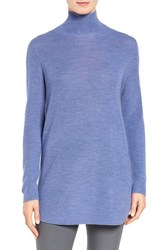 Eileen Fisher Women's Fine Rib Merino Turtleneck Tunic Periwinkle