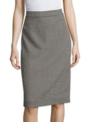 Escada Patterned Pencil Skirt Black