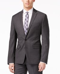 Ryan Seacrest Distinction Grey Solid Slim Fit Jacket