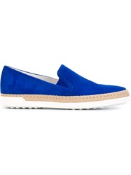 Tod's Slip On Cord Detail Espadrilles Blue