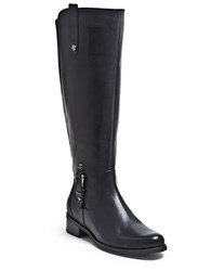 Blondo Wide Calf Venise Leather Riding Boots Black