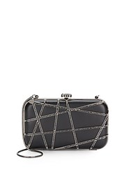 Saks Fifth Avenue Embellished Crossover Minaudiere Black