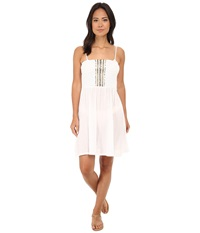 Lablanca Cabana Smocked Dress White Women's Swimwear