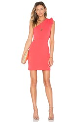 Oh My Love One Shoulder Tie Bodycon Coral