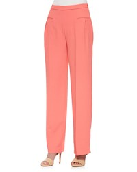 Rebecca Minkoff Ida Wide Leg Pants W Welt Pockets Coral Multi