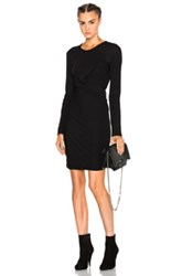 Alexander Wang T By Front Drape Dress In Black