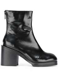 Penelophe's Sphere Chunky Heel Ankle Boots Black