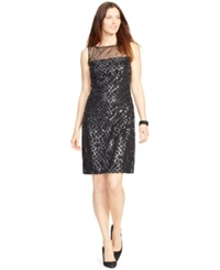 American Living Sleeveless Sequined Dress Black