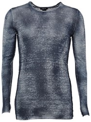 Avant Toi Fine Knit Fitted Jumper Blue