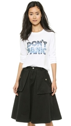 Marc By Marc Jacobs Don't Panic Long Sleeve Tee White Multi