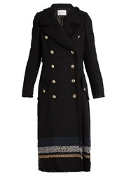 Sonia Rykiel Cotton Blend Textured Coat Navy Multi