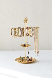 Plum And Bow Stabile Medallion Jewelry Stand Gold
