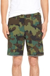 Hurley Men's 'Phantom Utility' Hybrid Cargo Shorts Camo Green