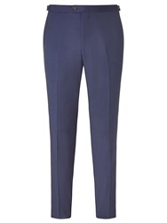 John Lewis Woven In Italy Hairline Stripe Tailored Suit Trousers Royal Blue