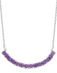 Lord And Taylor African Amethyst Pendant Necklace Purple