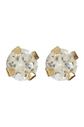 Candela 14K Yellow Gold 2Mm Micro Cz Stud Earrings Gray
