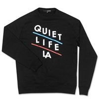 The Quiet Life Slant Crewneck Sweatshirt Black Huh. Store