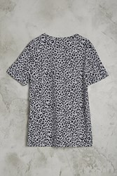 Forever 21 Leopard Print Tee Grey Black