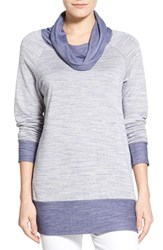 Women's Bobeau Cowl Neck Tunic Top Navy