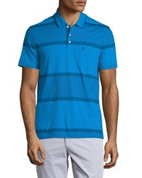 Penguin Exploded Stripe Polo Shirt Directoire Blue