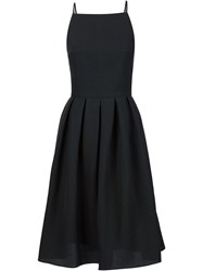 Martin Grant Open Back Flared Mid Length Dress Black