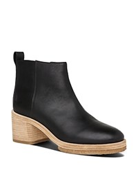 Whistles Bera Heavy Sole Mid Heel Booties Black