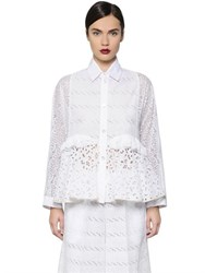 Antonio Marras Cotton Sangallo Lace And Poplin Shirt