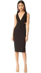 Alice Olivia Riki Fitted Cutout Dress Black