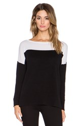Leo And Sage Colorblock Boatneck Sweater Black